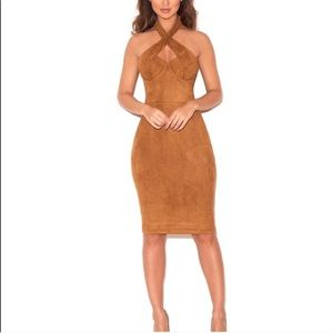 House of CB tan dress